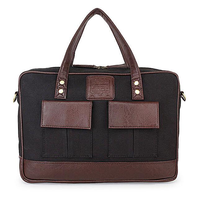 Black Laptop Bag for Men