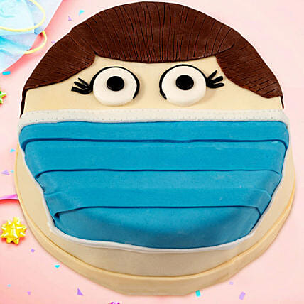 Face Mask Printed Cake Online