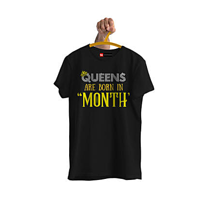 Online Queens Are Born Personalised Tshirt