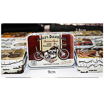 Quirky Harley Bike  Tin Box