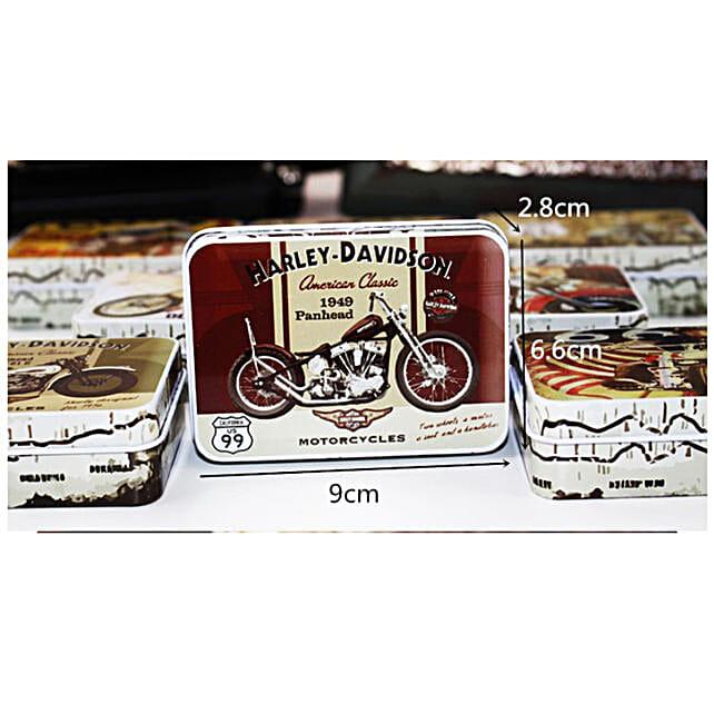 Quirky Harley Bike  Tin Box