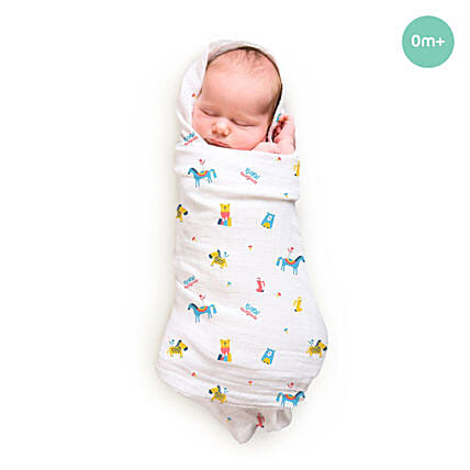 Bamboo Swaddle Pamper No Prob Lama