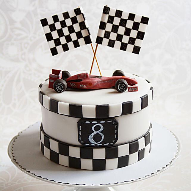 Race Car Theme Cake Online:Designer Cakes