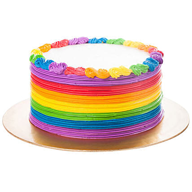 Designer Rainbow Pineapple Cake:Birthday Cakes for Kids