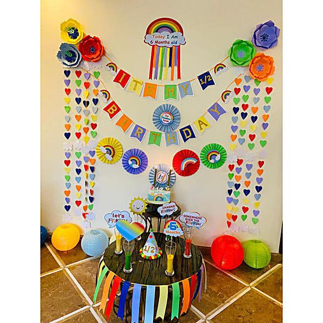 Rainbow Theme Birthday DIY Box:Balloon Kits