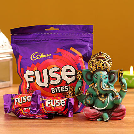 Online  Ganesha Idol and  Fuse Bites