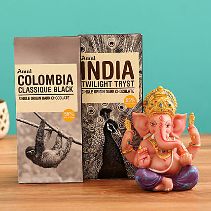 Buy Ganesha Idol and Chocolates