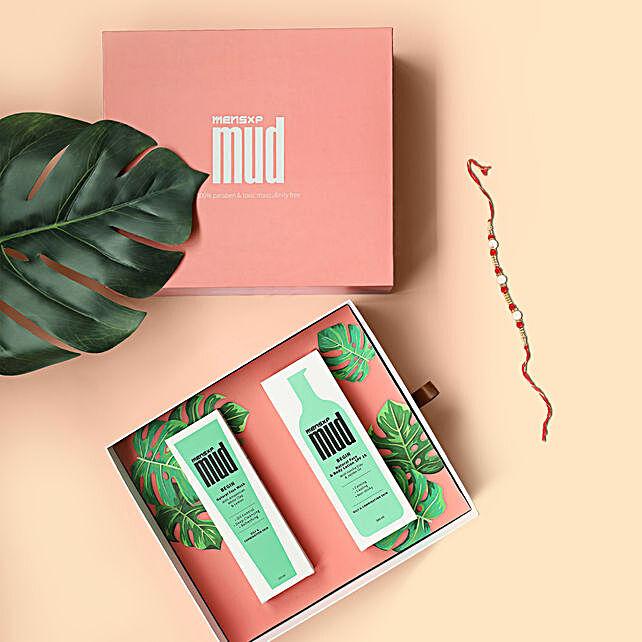 Rakhi & MensXP Mud Limited Edition Gift Box For Bro:Rakhi With Grooming Hamper