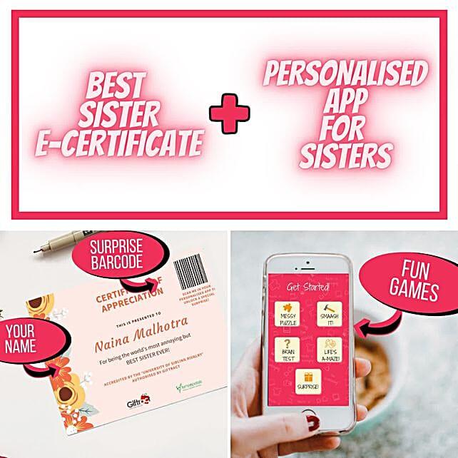 Rakhi Puzzle Personalised App For Sister