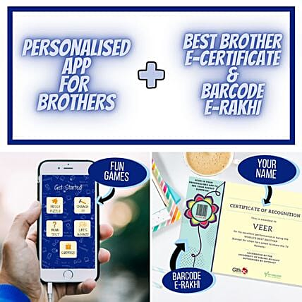 Rakhi Puzzle Personalised App For Brother