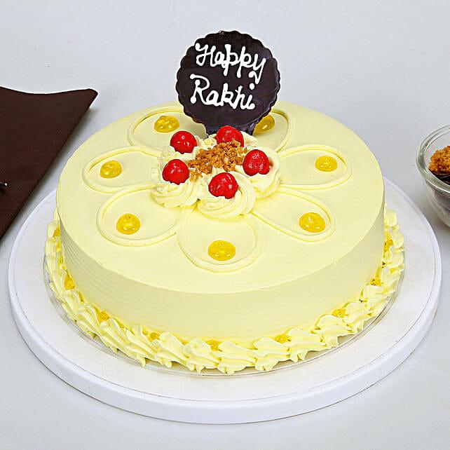 Rakhi with Butterscotch Cake