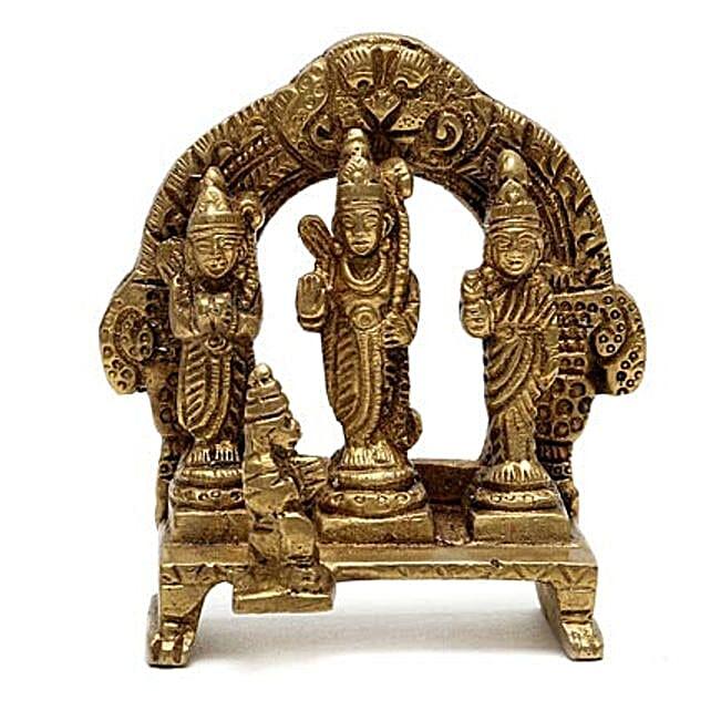 Brass Idol-brass idol of Ram Darbar represents Lord Ram with Lakshman,Sita and Hanuman