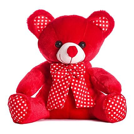 Online Red Bow Teddy Bear:Soft Toys