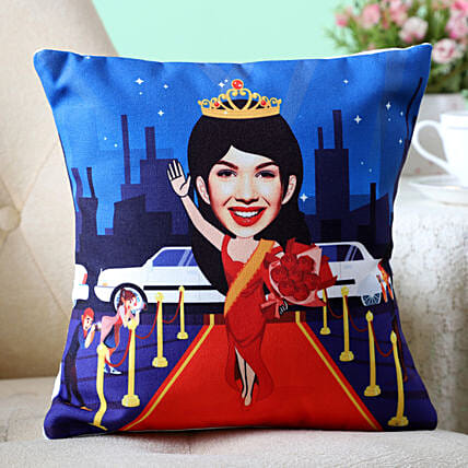 Personalised Caricature Cushion For Fashionista