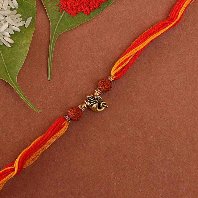 Ganesha Mauli rakhi online:Single Rakhi