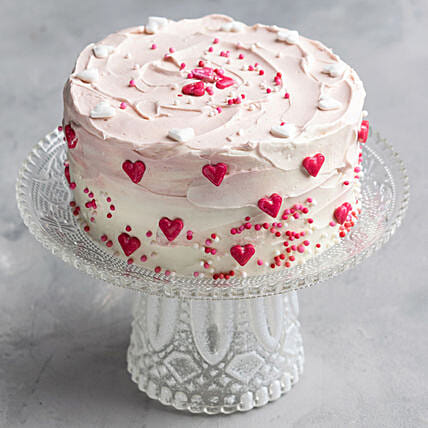 red heart cake online
