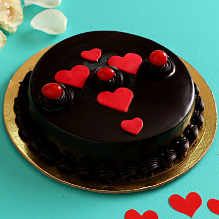 Truffle Cake for Valentines Day