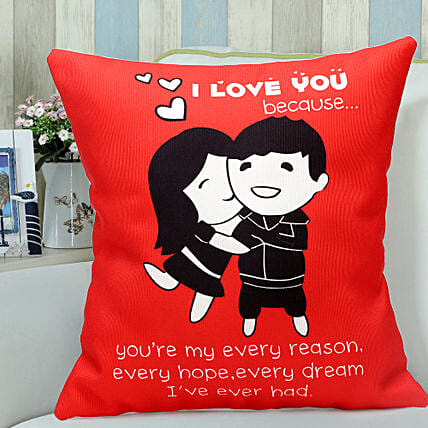 Red Hug-1 12x12 Red Hug Cushion:Home Decor Anniversary Gifts
