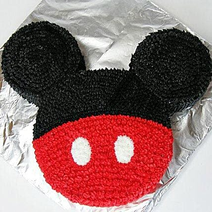 Mickey Themed Face Cake for Little Ones 2kg:Mickey Mouse Birthday Cake