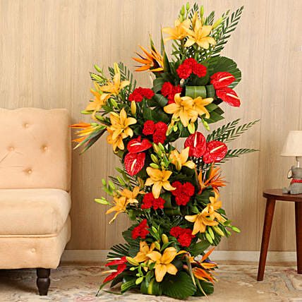 Online Colorful Flower Bouquet Arrangement