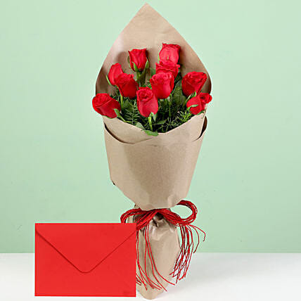 Flower with Paper Wrap and Greeting Online:Mothers Day Greeting Cards and Flowers