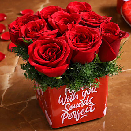 exotic roses arrangement for valentine