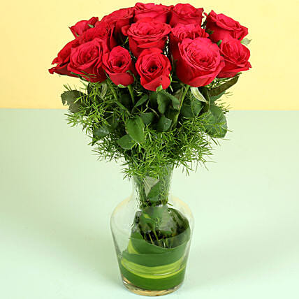 Red Roses with Vase Online
