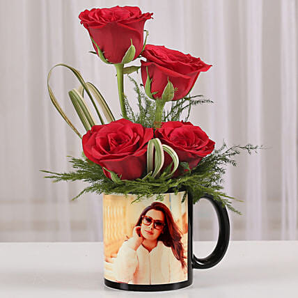Lovely rose in photo coffee mug:Anniversary Mugs
