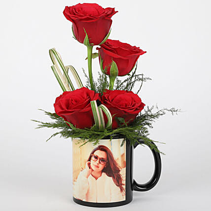 Lovely rose in photo coffee mug:Womens Day Combos