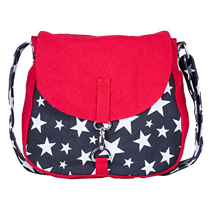 Online  Red Tiger Canvas Cross-Body