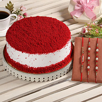 Online Cake with Rakhi Sets