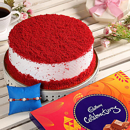 Cake & Chocolate With Rakhi Online