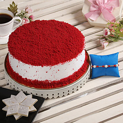 Online Rakhi With Cake & Sweets For Brother