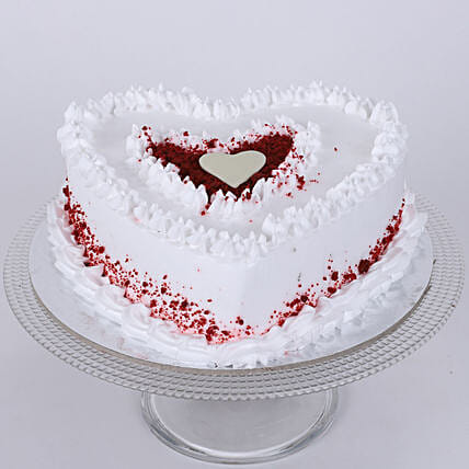 Delicious heart shape cake:Red Velvet Cake Order