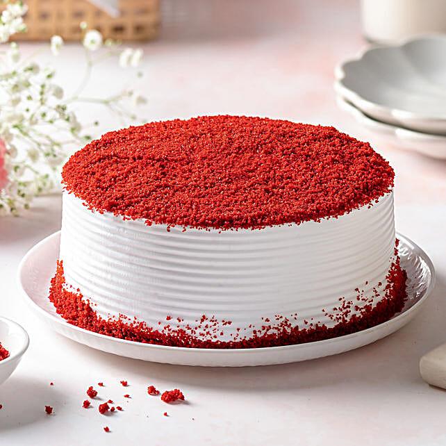 Red Velvet Fresh Cream Cakes Half Kg Eggless