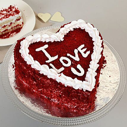 I Love You Cake:Red Velvet Cake Order