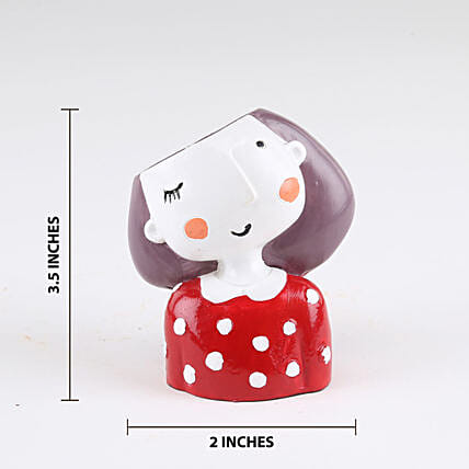 Winking Girl Resin Pot Online:Plant Pots