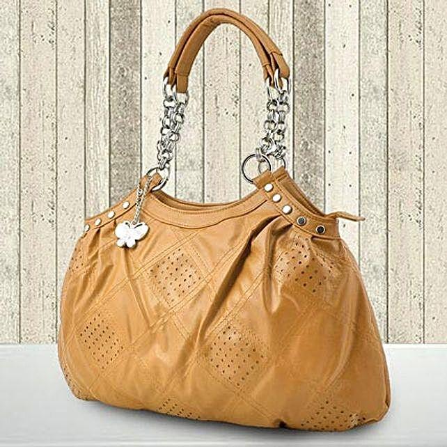 Beige Casual Handbag (BNS 0154)