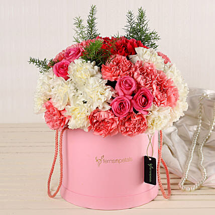 Online Roses And Carnations Box