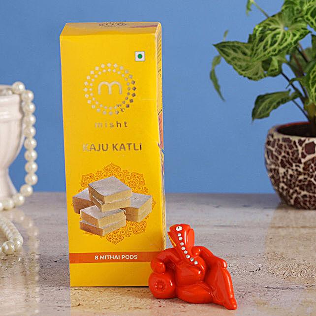 Online Resting Ganesha Idol & Misht Kaju Katli:Send Diwali Sweets to Kochi