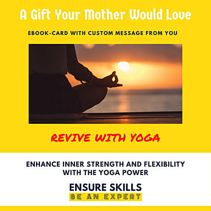 Yoga E-book Card For Mom