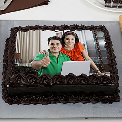 Chocolate Truffle for Dad:Photo Cakes to Jaipur