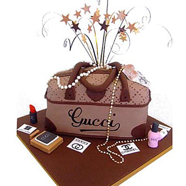 Rich Gucci handbag Cake by FNP