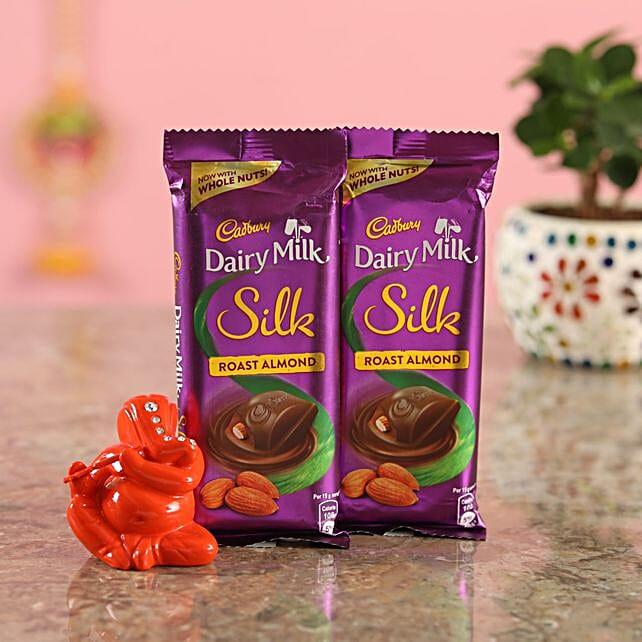 Roast Almond Chocolate Orange Ganesha Idol:Diyas