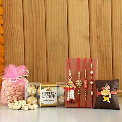 online Rochers & Cashews With Set Of 5 Rakhis