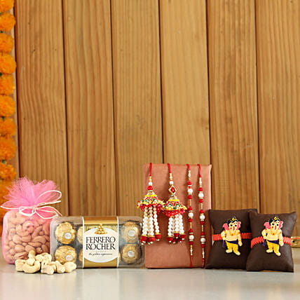 online Rochers & Cashews With Set Of 6 Rakhis