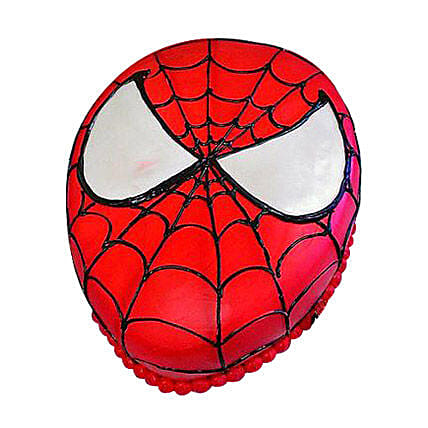 Spiderman themed cake 1kg:Spiderman Cakes