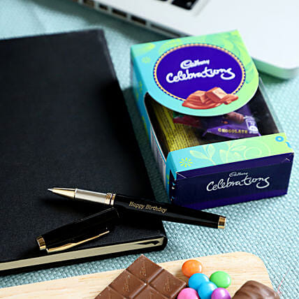 Online Roller Pen & Chocolate Combo