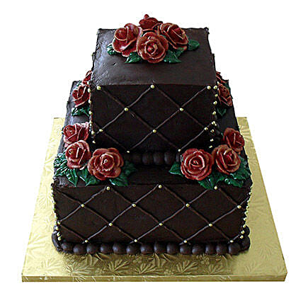 happy 5th anniversary designer cake 3kg:3 Tier Cake