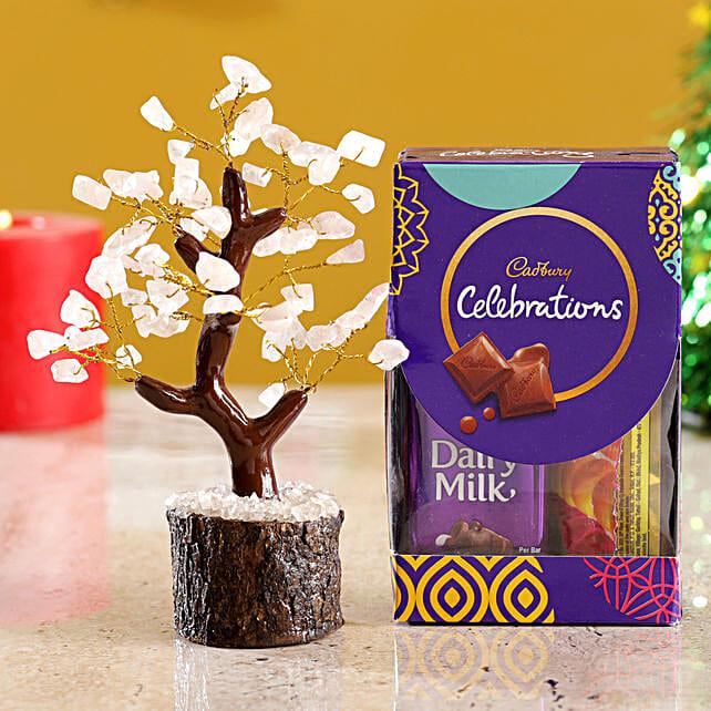 Rose Quartz Wish Tree & Cadbury Celebrations Mini